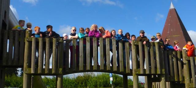 Die Klasse auf der Brücke!